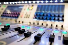 De audio van de mixer Royalty-vrije Stock Afbeelding