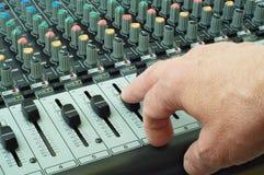 De audio van Mikser Royalty-vrije Stock Afbeelding