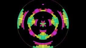 De audiogolfvormmuziek maakt Niveaus Grafische Computer Geproduceerde Technologie gelijk stock illustratie