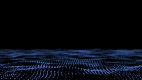 De audioreactie van het deeltjesgebied bijzondere golf Correcte golf Soun stock footage
