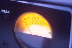 De audiowijzerplaat van de opnamestudio stock foto