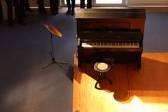 De auditie van de piano onder de schijnwerper royalty-vrije stock foto's