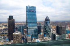 De Augurk die van Londen Modern bureau bouwen blokkeert Stad van de bedrijfs en het bank aria van Londen, Stock Fotografie