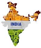 15de August Independence van tricolorachtergrond van India Stock Foto's