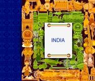 15de August Independence van tricolorachtergrond van India Royalty-vrije Stock Foto