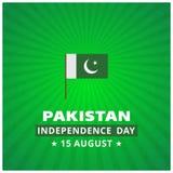 14de August Pakistan Independence Day Abstract-achtergrond Royalty-vrije Illustratie
