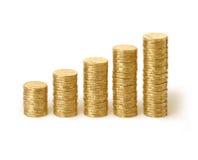 De Australische Dollars van de Stapels van de Muntstukken van het Geld stock foto's