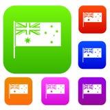 De Australische inzameling van de vlag vastgestelde kleur Royalty-vrije Stock Afbeeldingen