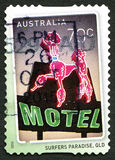 De Australische Postzegel van het surfersparadijs Royalty-vrije Stock Foto