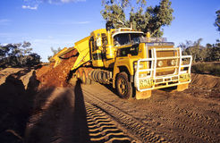 De Australische Trein van de Binnenlandweg Stock Foto's