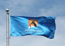 De australiska öppnar flaggan Arkivbilder