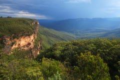 De australiska blåa bergen Royaltyfria Foton
