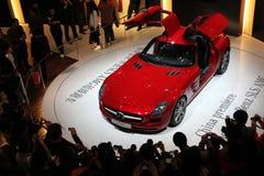 De auto AMG van Mercedes-Benz SLS Stock Foto's