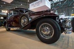 De auto Duesenberg Modelj la grande, 1929 van de ware grootteluxe Stock Afbeeldingen