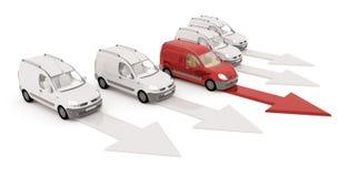 De auto en de dozen van de levering Royalty-vrije Stock Afbeelding