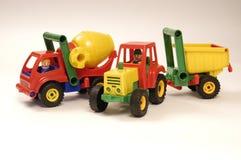 De auto en de tractor van het stuk speelgoed Stock Foto