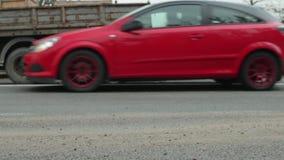 De auto en de vrachtwagen van neerstortingsmercedes stock footage