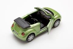 De auto is groen Stock Afbeelding