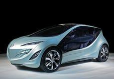 De auto Mazda van het concept electrique Stock Afbeeldingen