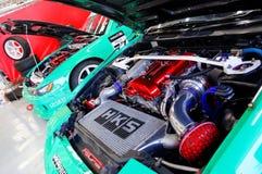 De auto's van de afwijking bij de Formule van Singapore drijven 2010 af Royalty-vrije Stock Foto