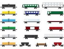 De auto's van de spoorweg Royalty-vrije Stock Afbeeldingen