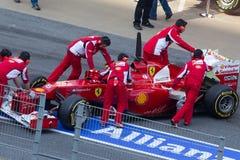 De auto's van Felipe Massa´s Stock Foto's