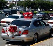 De auto's van het huwelijk Stock Fotografie