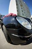De auto's van het huwelijk op een breed hoekschot royalty-vrije stock afbeeldingen