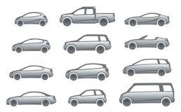 De auto's van het pictogram Stock Foto