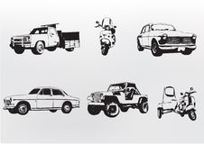 De auto's van het silhouet. Stock Foto's