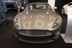 De auto van Aston Martin DB9 op vertoning bij La Auto toont. Stock Foto's