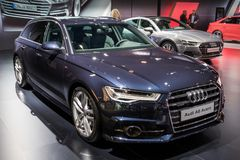 De auto van Audi A6 Avant stock foto's