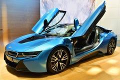 De auto van BMW i8 stock foto's