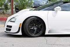 De auto van Bugatti Veyron op vertoning Royalty-vrije Stock Afbeeldingen