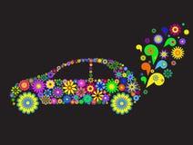 De auto van de bloem stock illustratie