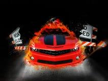 De auto van de brand Royalty-vrije Stock Afbeelding