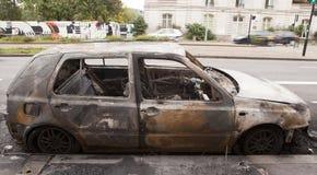 De auto van de brandwond uit stock foto