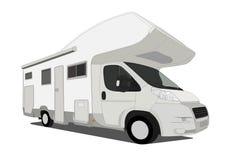 De auto van de caravan Stock Afbeelding