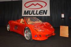 De auto van de de Koolstofvezel van Mullengt op vertoning Stock Foto's