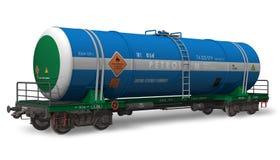 De auto van de de tankerspoorweg van de benzine Stock Afbeeldingen