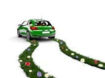 De auto van de ecologie royalty-vrije illustratie