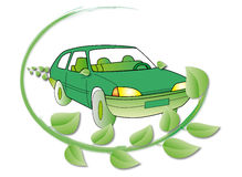 De auto van de ecologie Royalty-vrije Stock Fotografie