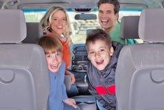 De auto van de familie