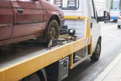 De auto van de kant van de weghulp Stock Fotografie
