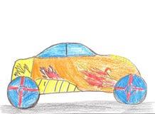De auto van de kindtekening Royalty-vrije Stock Afbeeldingen