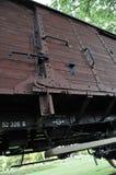 De Auto van de ladingstrein in Westerbork-Doorgangskamp Stock Foto's