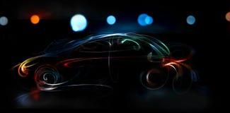 De auto van de nacht Stock Foto