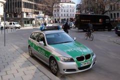 De auto van de politie in München Stock Fotografie