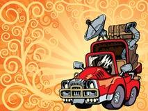 De auto van de reiziger Stock Illustratie