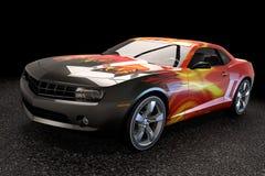 De auto van de sportsedan het 3d teruggeven Stock Foto